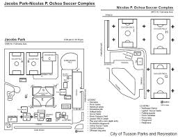 Map Of Tucson Jacobs Park And Ochoa Soccer Complex Tucson Ultimate