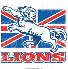 clipart of a mean fierce lion on british flag by patrimonio 315
