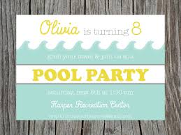 swimming pool party birthday invitation printable party