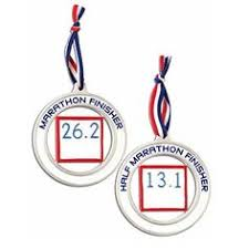 custom silver circle race map ornament marathon ornament