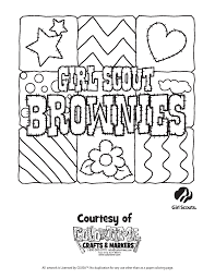 scout coloring pages daisy archives inside brownie throughout