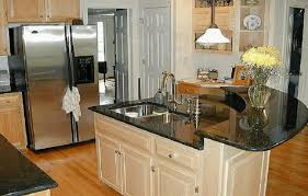 Small Kitchen With Island Design Small Kitchen With Island Ideas Metal Frame Bar Stools White Range