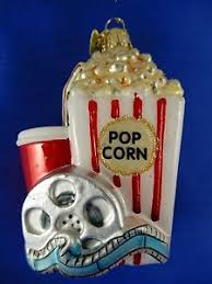 popcorn ornament glass blown fast food snacks