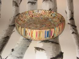 bowl made from colouring pencils and resin wood turning