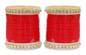 punjabi wedding chura buy muchmore metal crytal bridal chura choora bangle set for