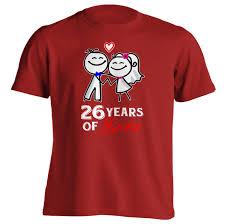 26th wedding anniversary 26th anniversary gift 26 years of shirt anniversary gifts