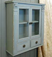 french wooden wall mounted shabby chic cabinet