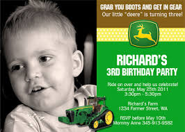 john deere tractor birthday invitations dolanpedia invitations ideas