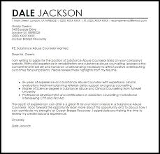 luxury substance abuse counselor cover letter sample 49 with