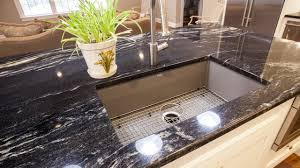 Black Granite Kitchen Countertops by Black U0026 Black Galaxy Granite Kitchen Countertops