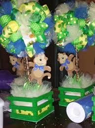 monkey decorations for baby shower ribbon topiary centerpiece for a baby boy monkey theme baby