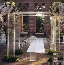 wedding arches rental miami acrylic wedding chuppah canopy altar arch rentals miami south