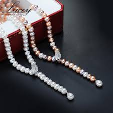 natural freshwater pearl necklace images 100 genuine fashion pearl necklace natural freshwater pearl krishq jpg