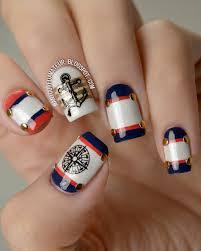 131 best nautical nail design images on pinterest nautical nail