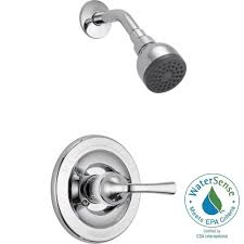 Old Delta Shower Faucet Delta Foundations Single Handle 1 Spray Shower Faucet In Chrome