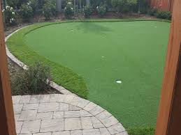 Backyard Putting Green Installation by Lawn Services Romoland California Backyard Putting Green