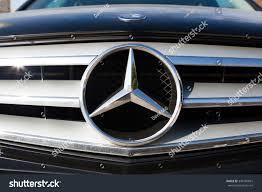 car mercedes logo malaga spain december 2 2015 mercedes stock photo 349105691