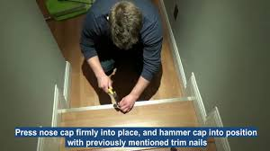 Stair Nose Trim For Laminate Flooring How To Remove Old Stair Nose End Caps And Install New Ones Youtube