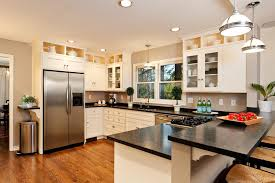 Kitchen Peninsula Cabinets Kitchen Above Cabinet Decorating Ideas Kitchen Traditional With