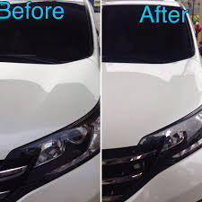 honda white car glass coating honda crv 2015 white samurai carcoating made in japan