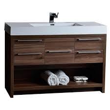 Modern Walnut Bathroom Vanity 47 Modern Bathroom Vanity Set Walnut Finish Tn L1200 Wn