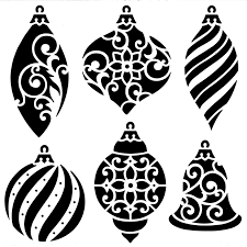 ornaments stencil ideal for fused glass