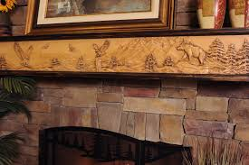 fireplace surround e2 80 93 rustic stone veneer with an