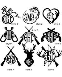 monogram decals bargains on fishing monogram vinyl decals woman