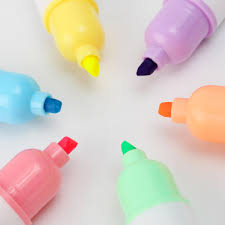6pcs mini pill shaped highlighter pens writing cute marker pen