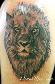 realistic black and grey lion tattoo tattoos