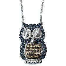 crystal owl pendant necklace images Owl pendant necklace with crystals blue target
