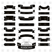 decorative ribbons set of decorative ribbons different shape vector image 60191