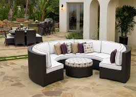 Curved Wicker Patio Furniture - silver coast malibu 2 piece custom outdoor java wicker patio