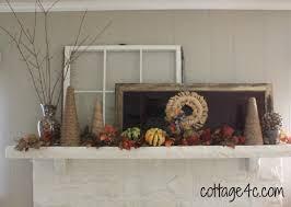 Mantel Topiaries - fall mantel acorns and topiaries cottage4c