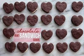 heart shaped cookies chocolate heart sandwich cookies shutterbean