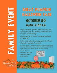 10 30 Family Event Great Pumpkin Halloween Fair Tooele City