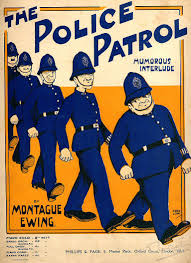 the police patrol vintage piano sheet music ewing montague