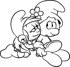 smurf coloring pages could you look at something else for a minute smurf coloring page