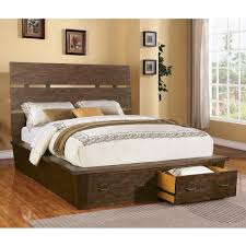 bedroom diy pallet bed frame with storage compact bamboo wall