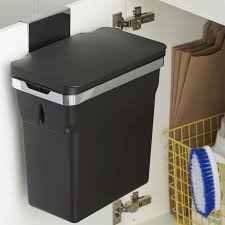 Kitchen Cabinet Waste Bins by Cabinet Door Mounted Trash Can Monsterlune