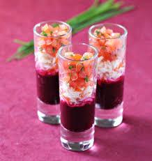 cuisine verrine verrines surimi tomate et betterave les meilleures recettes de