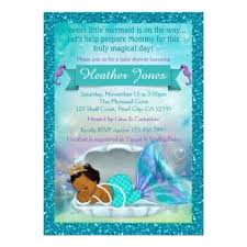 mermaid baby shower invitations adorable mermaid baby shower invitations 130 light zazzle