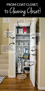 from coat closet to cleaning closet organizing in style small
