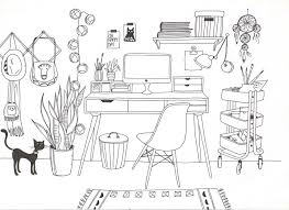 dessin de bureau le fantasme du bureau et du dressing d encre et de sel