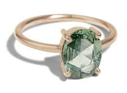 jade engagement ring custom cut engagement ring bario neal