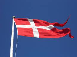 Dansk Flag Cykel Motion Biersted Velkommen