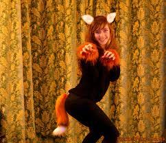 small ears and 15 fox tail set rikkun bright realistic