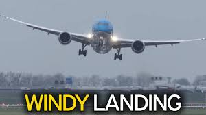 Tiny Planes Terrifying Moment Klm Plane Battered By Severe Winds Makes Sharp
