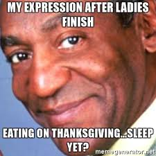 my expression after finish on thanksgiving sleep