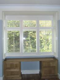 bay window interior wooden window shutters from long island